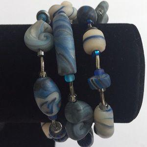Vintage Jewelry - Vintage Jewelry Colorful Silver Tone Bracelet